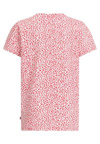 WE Fashion - MET OPDRUK, PAILLETTEN EN DESSIN - Print T-shirt - pink