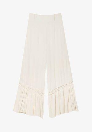 CRÊPE - Trousers - beige