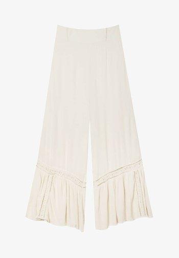 CRÊPE - Spodnie materiałowe - beige