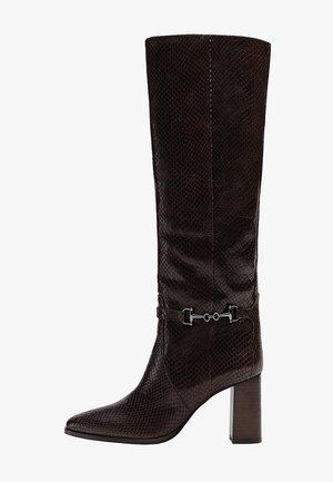 ANIMALPRINT  - High heeled boots - brown