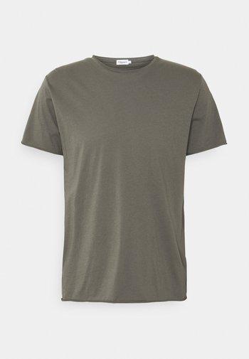 ROLL NECK TEE - Basic T-shirt - green grey