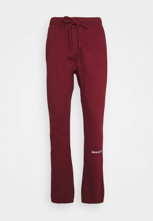 LOGO UNISEX - Pantaloni sportivi - dark red
