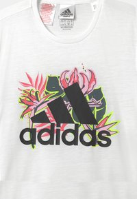 adidas Performance - UNISEX - Print T-shirt - white/black - 2