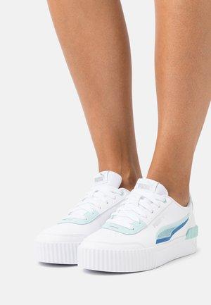 CARINA LIFT SHADOW - Trainers - puma white/eggshell/blue