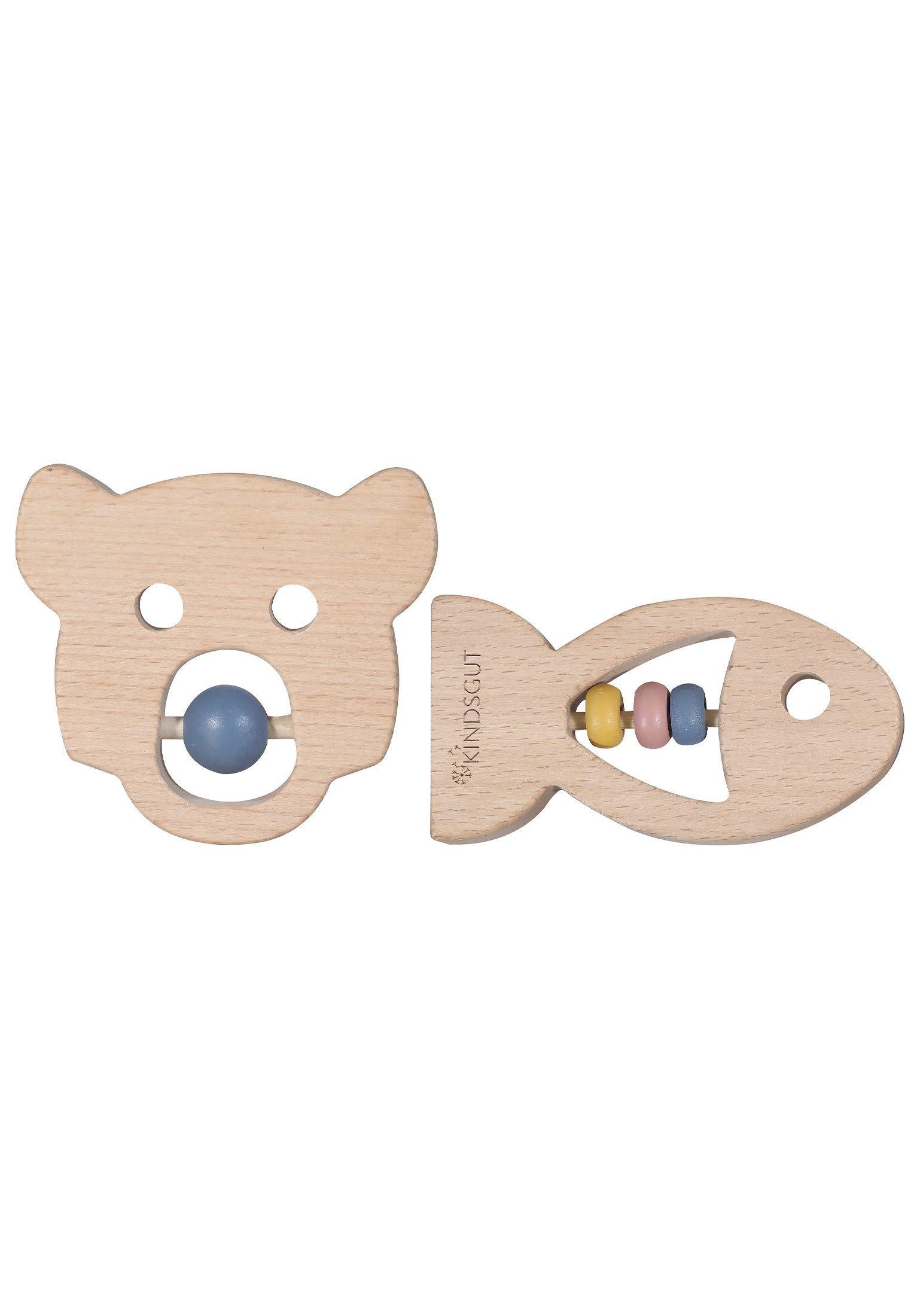 Kinder BEISSRING-SET - Holzspielzeug