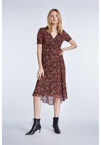 SET - TAILLIERTES - Day dress - black red - 1