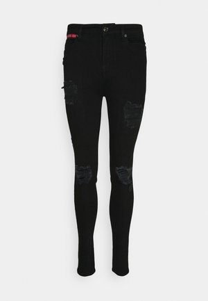 DISTRESSED SKINNY FIT - Jeans Skinny Fit - jet black wash