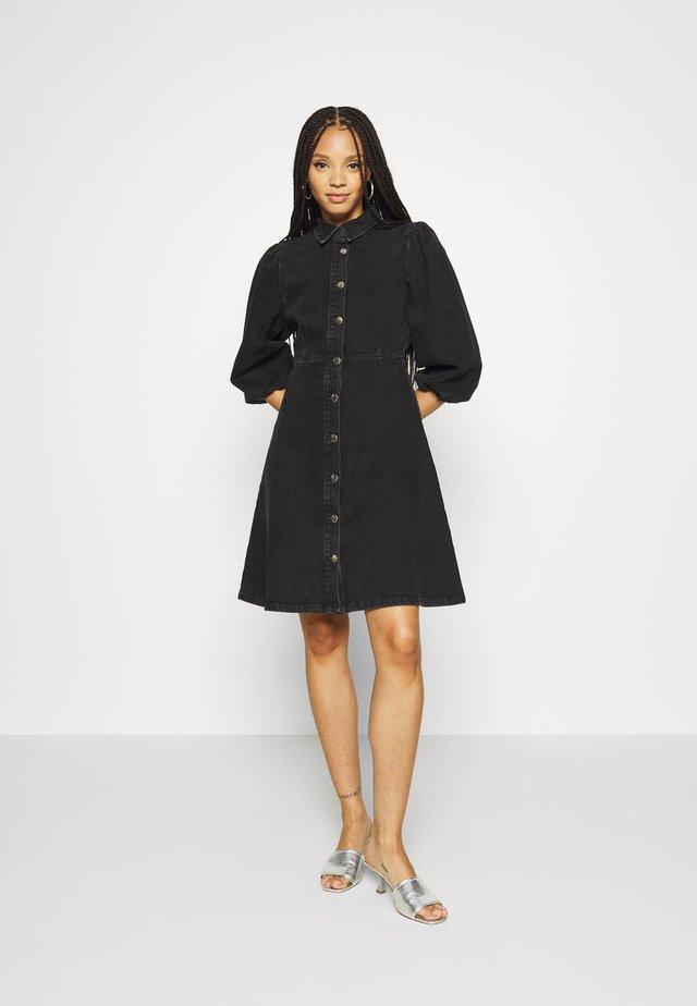 BAHIRA  - Denim dress - black