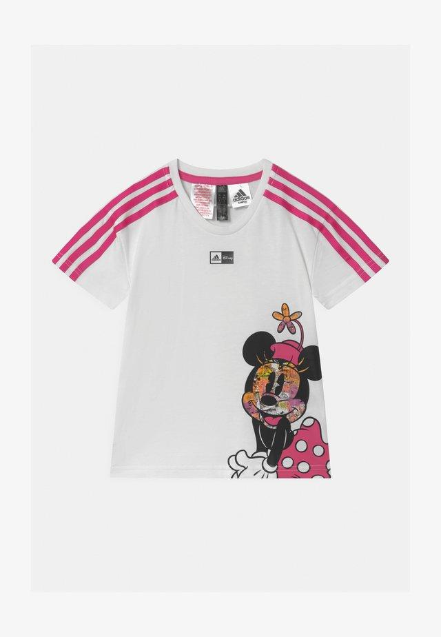 UNISEX - Print T-shirt - white/pink