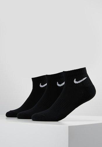 EVERYDAY CUSH 3 PACK UNISEX - Sports socks - black/white