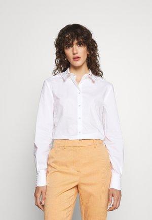 BASIC BLOUSE - Button-down blouse - white