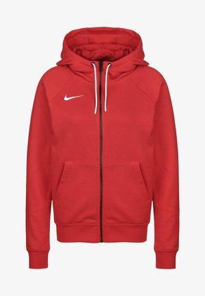 PARK - veste en sweat zippée - university red  white