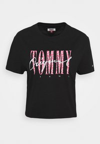 Tommy Jeans - FLORAL DETAIL TEE - T-shirts med print - black - 4