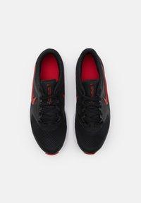 Nike Performance - DOWNSHIFTER 11 UNISEX - Neutral running shoes - black/universe red/dark smoke grey/white - 3