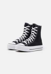 Converse - CHUCK TAYLOR ALL STAR LIFT XTRAHI - Baskets montantes - black/white/black - 3