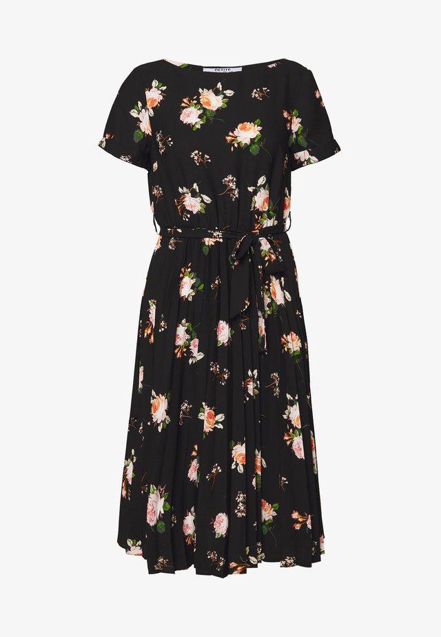 FLORAL SLEEVE DRESS - Day dress - black