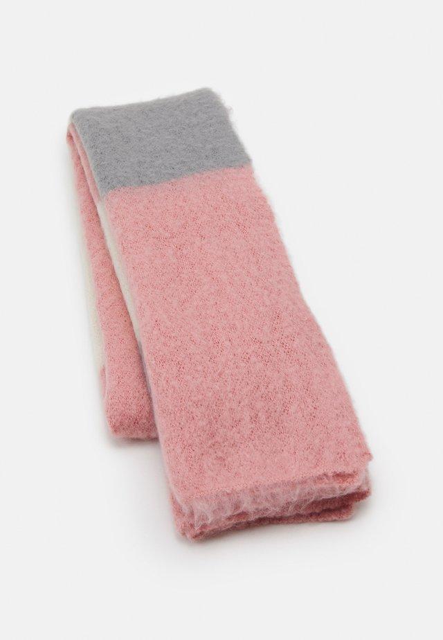 ONLLIMA BLOCK SCARF  - Sciarpa - grey/pink