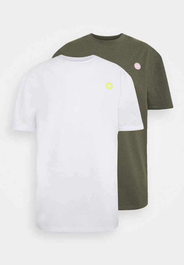 MARTIN RECYCLED 2 PACK - T-shirt basic - white/sacramento