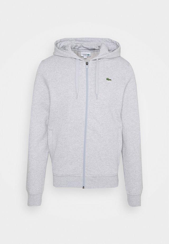 CLASSIC HOODIE - veste en sweat zippée - silver chine/elephant grey