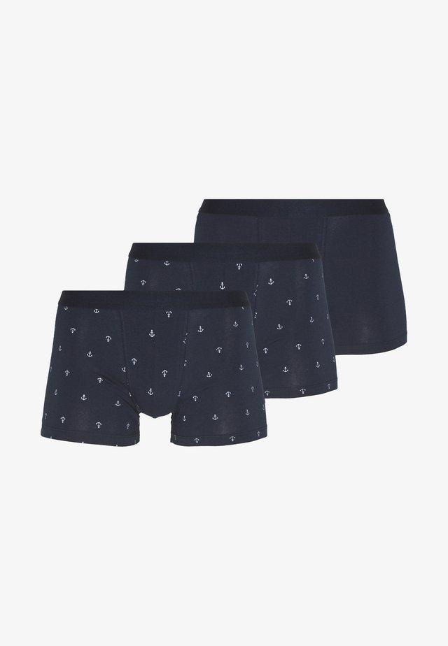 3 PACK - Shorty - dark blue/mottled grey