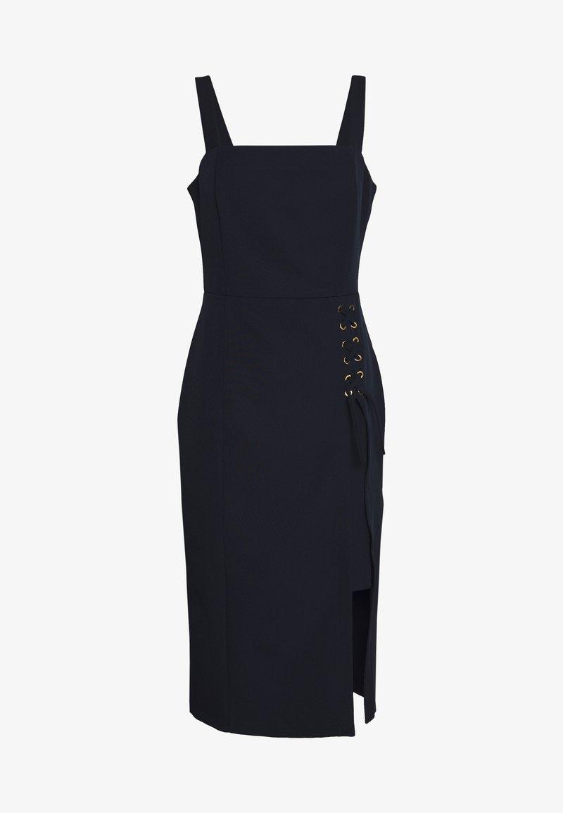 Trendyol - LACIVERT - Pouzdrové šaty - navy