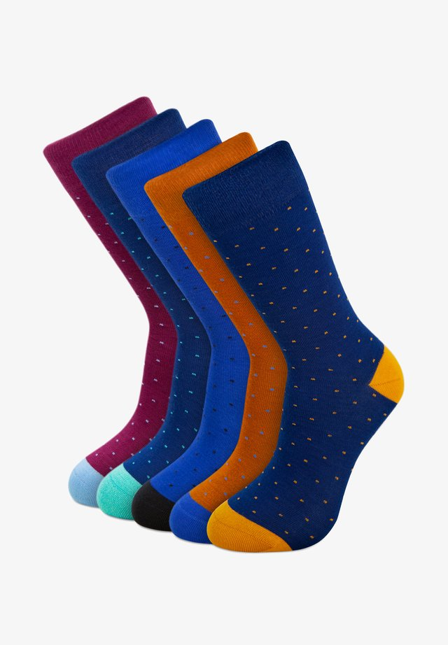 DOTS EDITION BAMBOO 5 PACK - Socks - blue