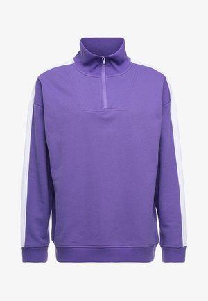 TROYER - Sweatshirt - ultra violett/white