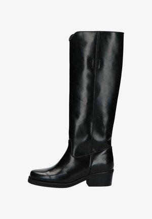 HOHE SCHWARZE STIEFEL - Boots - schwarz