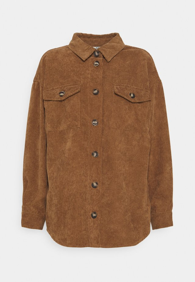 SAVISA - Button-down blouse - camel