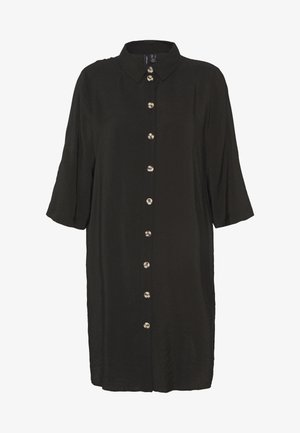 VMLAUREL BUTTON - Shirt dress - black