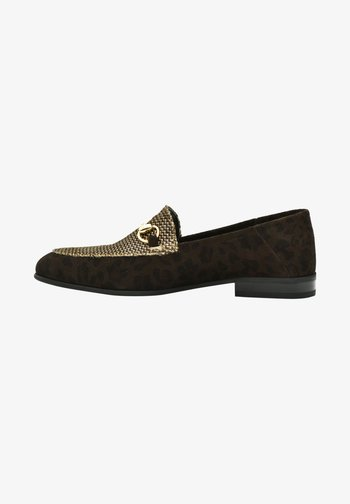 Casual lace-ups - brown leopard