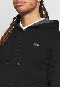 Lacoste Sport - HERREN SWEATJACKE-SH7609 - Mikina na zip - black/pitch chine - 5