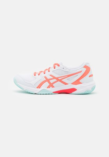 GEL ROCKET 10 - Volleyball shoes - white/sunrise red
