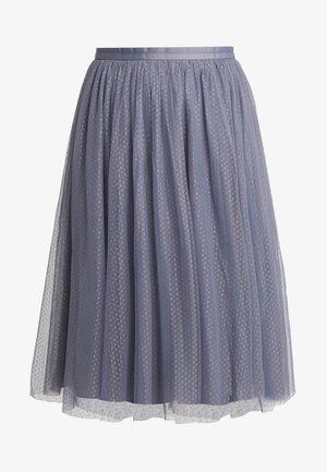 DOTTED MIDI SKIRT - Spódnica trapezowa - thistle blue