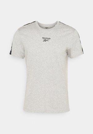TAPE TEE - Print T-shirt - medium grey heather