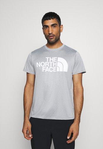 MENS REAXION EASY TEE - Print T-shirt - mid grey heathr
