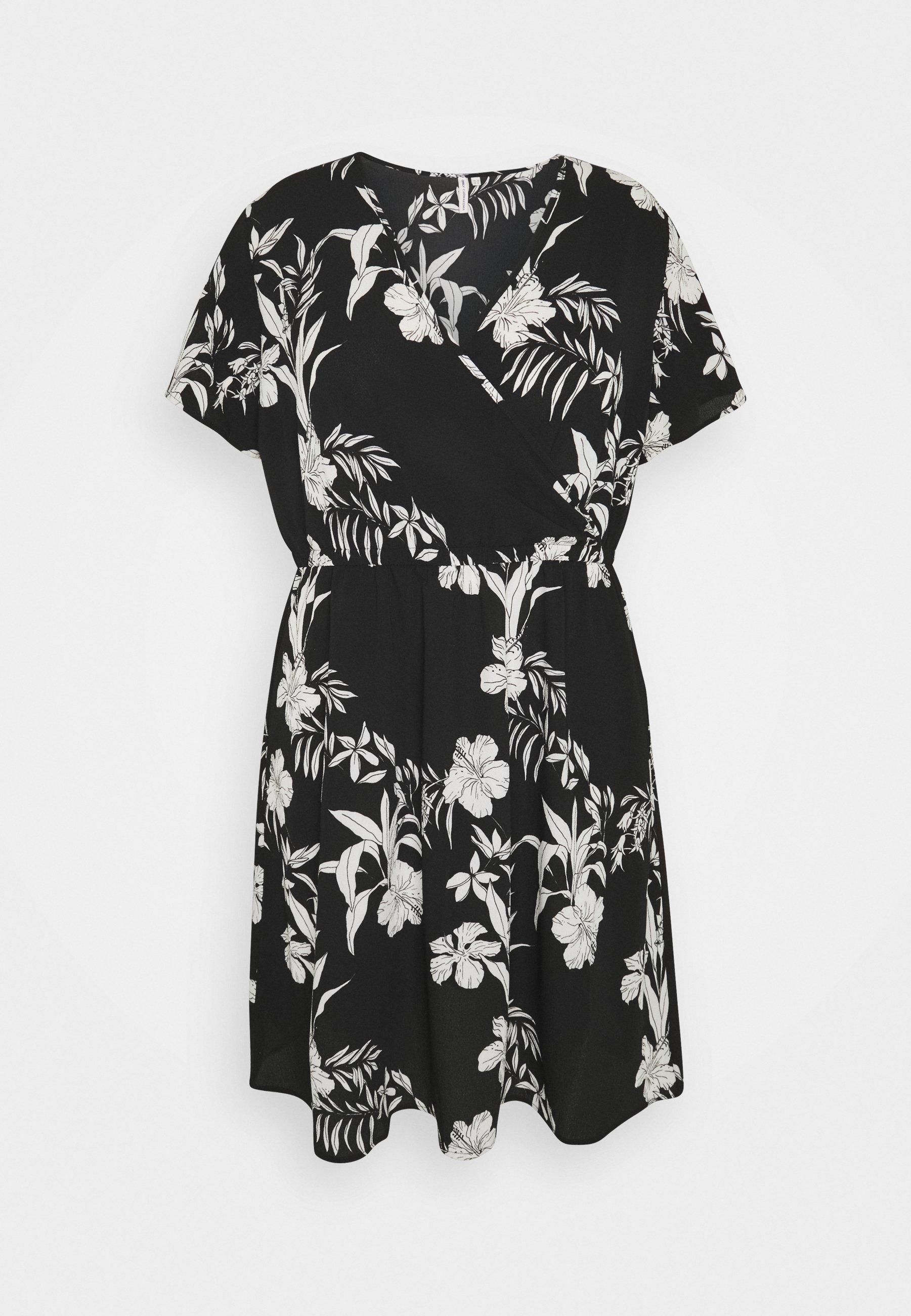 Women CARLUXINA WRAP KNEE DRESS - Day dress