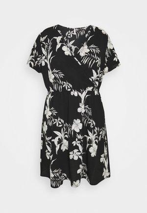 CARLUXINA WRAP KNEE DRESS - Day dress - black