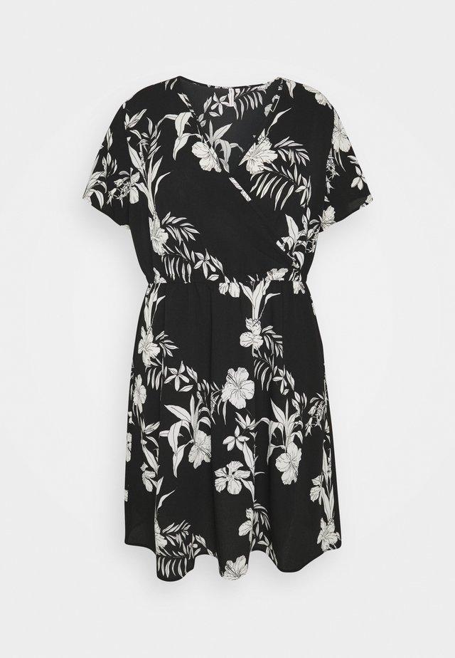 CARLUXINA WRAP KNEE DRESS - Korte jurk - black