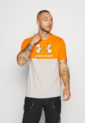 CAMO BIG LOGO  - T-shirt imprimé - vibe orange