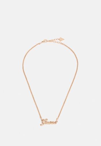 LOGO POWER - Necklace - rosegold-coloured