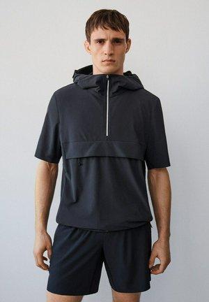 TECHNISCHES  MIT KAPUZE - T-shirt imprimé - schwarz