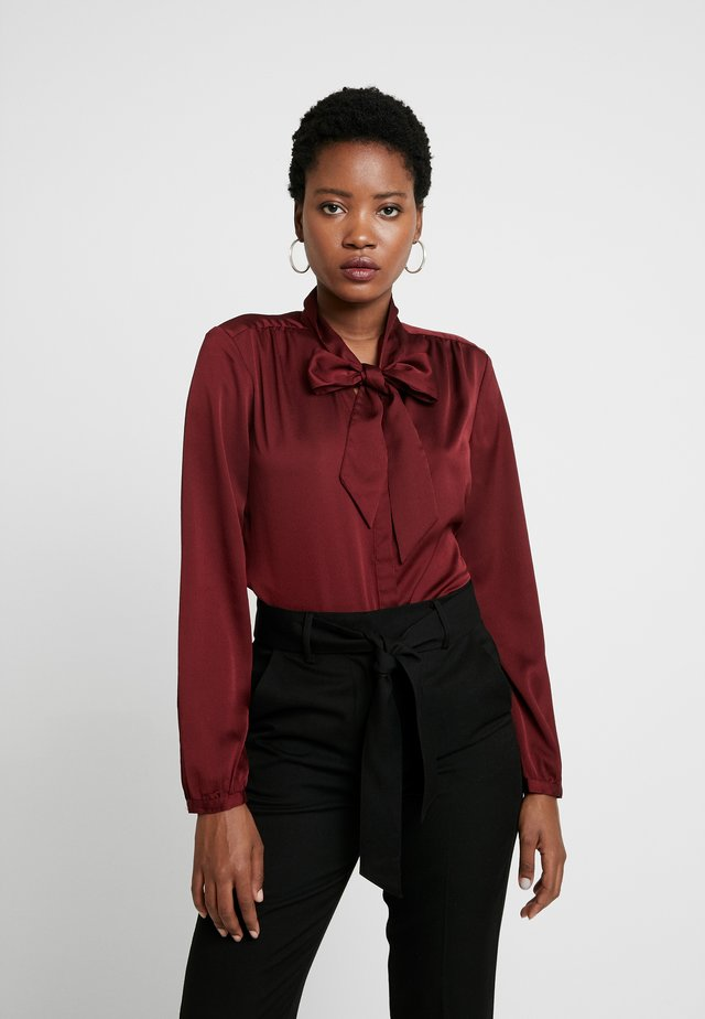 Button-down blouse - burgundy