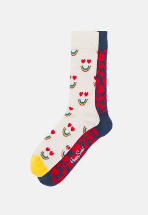 HEART SOCK RAINBOW SOCK UNISEX 2 PACK - Socks - multi-coloured