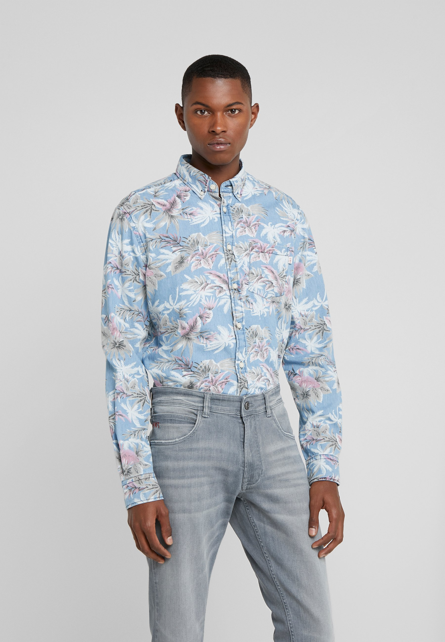 HKT by Hackett CHAM PALM TREE - Skjorte - chambray