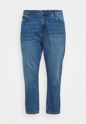 NMISABEL MOM - Relaxed fit jeans - medium blue denim