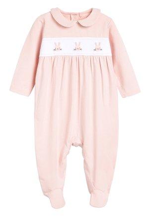 PINK SMART BUNNY SLEEPSUIT (0MTHS-2YRS) - Pyjamaser - pink