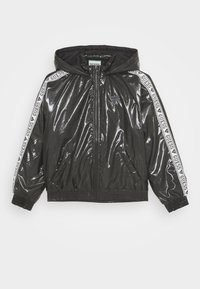 Guess - JUNIOR HOODED ZIPPER - Winter jacket - jet black - 0