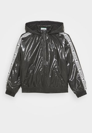 JUNIOR HOODED ZIPPER - Winter jacket - jet black