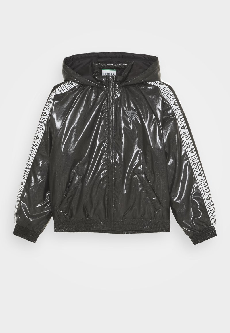 Guess - JUNIOR HOODED ZIPPER - Winter jacket - jet black